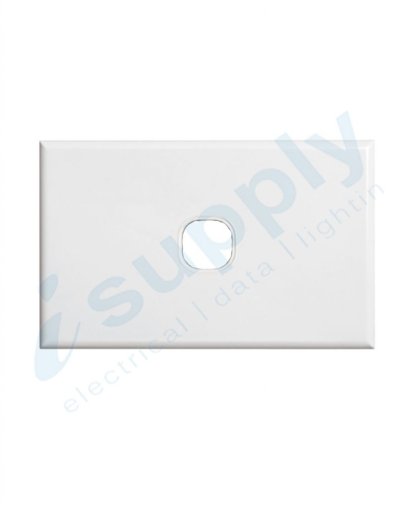 DEXTON 1 Gang Slim 5mm Plate White DXSW1/P