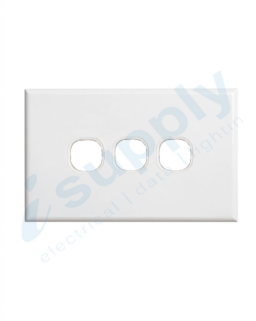 DEXTON 3 Gang Slim 5mm Plate White DXSW3/P
