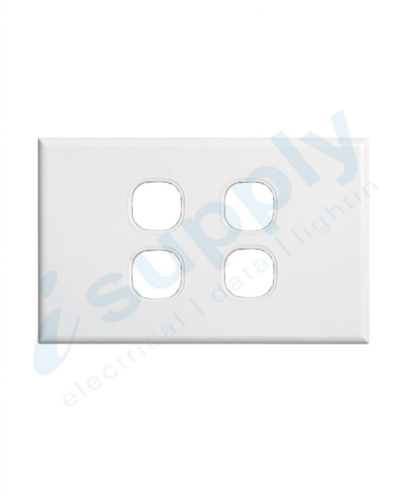 DEXTON 4 Gang Slim 5mm Plate White DXSW4/P