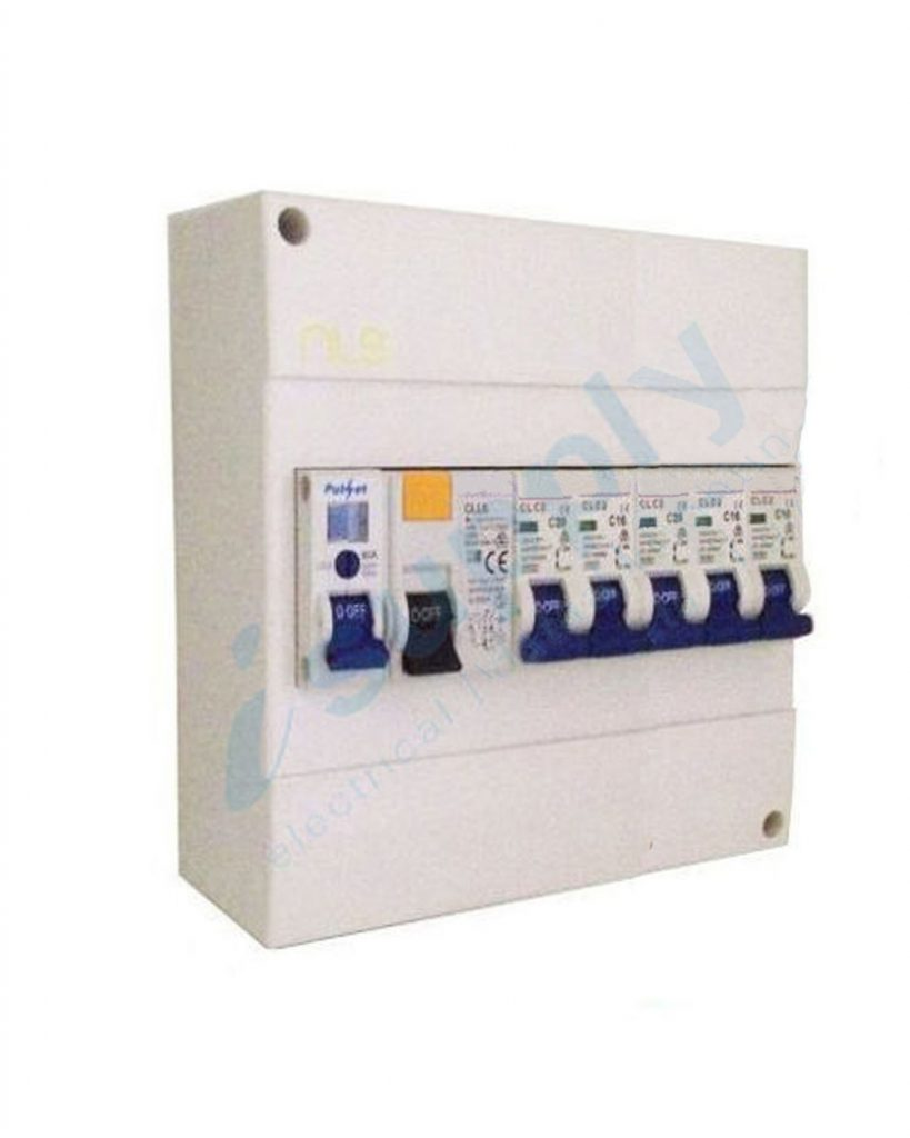 COMPLETE 8 pole Garage Surface Loaded Combination Switchboard Enclosure Circuit Breaker