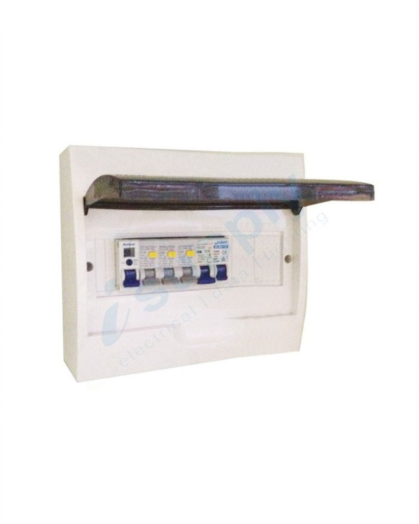 Complete 8 Way Pole Flush Distribution Board Switchboard Safety Fuse Box Rcd Circuit Breaker Together With Switch Stock Photos 12 Main Mcb 12p Rcbo