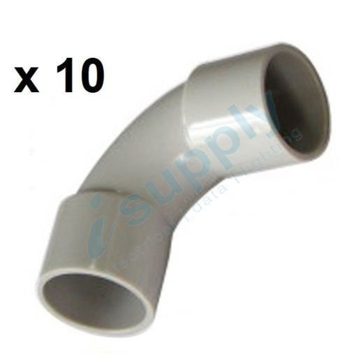 10 x 25mm 90 degree Elbow Bend Electrical Conduit