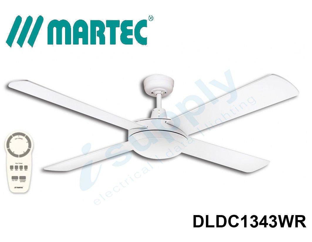 Martec Ceiling Fan DC 1300mm Light Dimmable 3000k 24w Motor & Remote ...