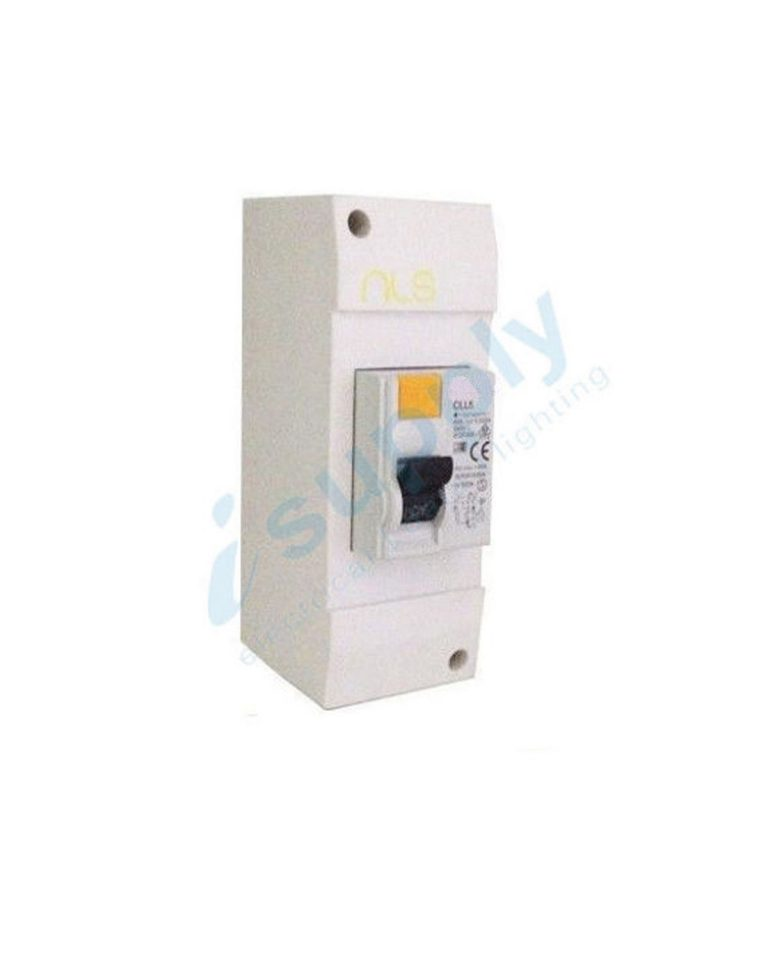 complete 40 amp rcd in a 2 pole enclosure switchboard with din rail