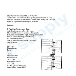 Digitek Antenna LTE Series UHF Phased Array with PCB balun in colourgift box