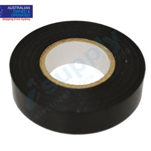2 X BLACK ELECTRICAL PVC INSULATION TAPE FLAME RETARDANT 19mm X 20M ROLLS