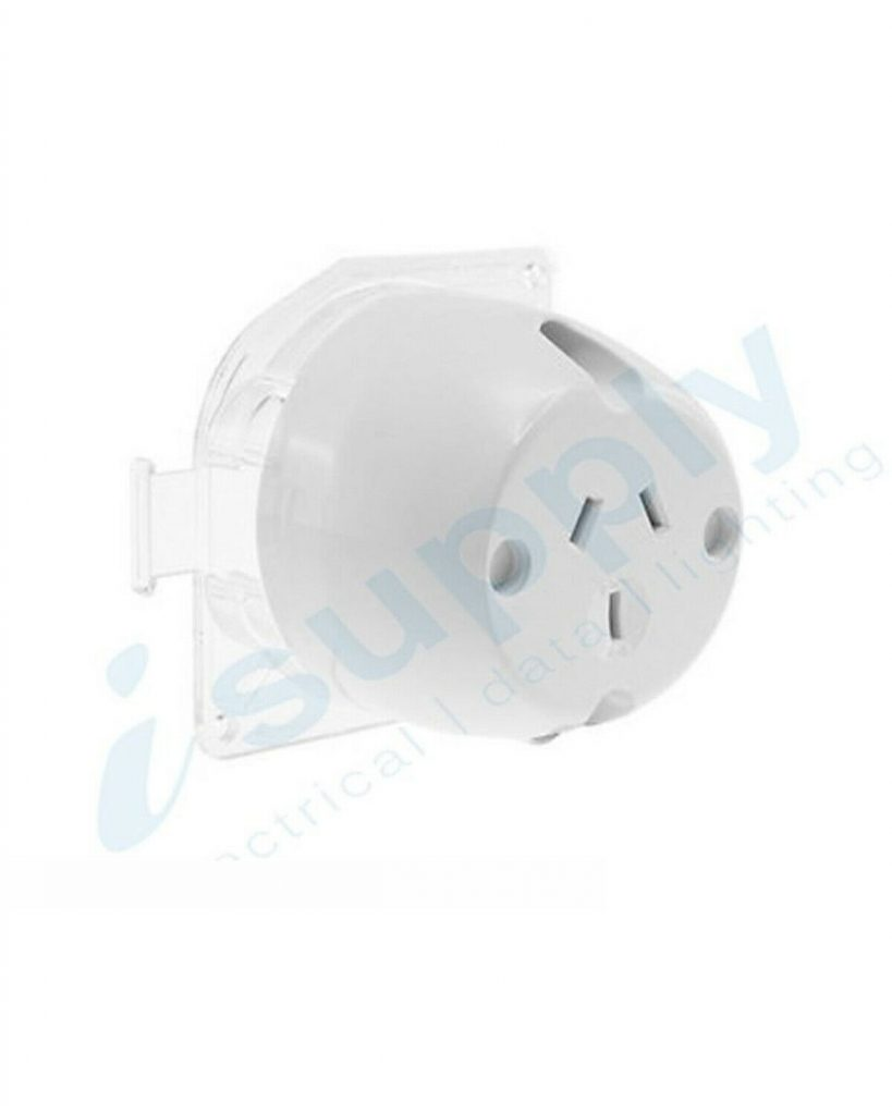 Surface Socket Outlet Plug Base 250VAC 10 Amp for LED Downlight – 3 Pin
