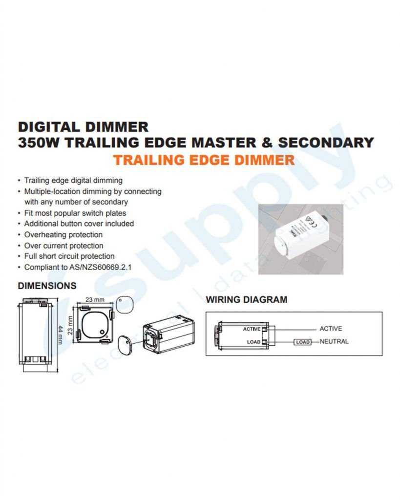 Clipsal Compatible Dexton Touch Light Switch Dimmer Universal 2 In 1 Diagram 0