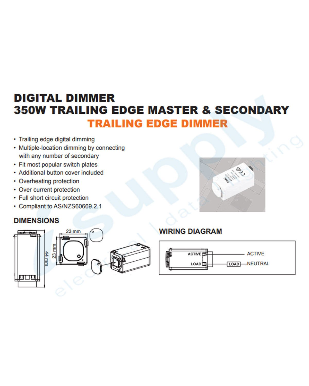 clipsal compatible dexton touch light switch dimmer universal 2 in 1  mechanism