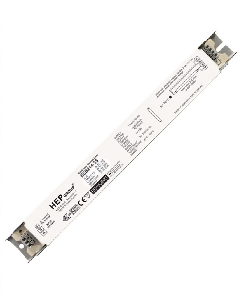 electronic ballast 2 x 28 watt for t5 fluorescent tube lamp