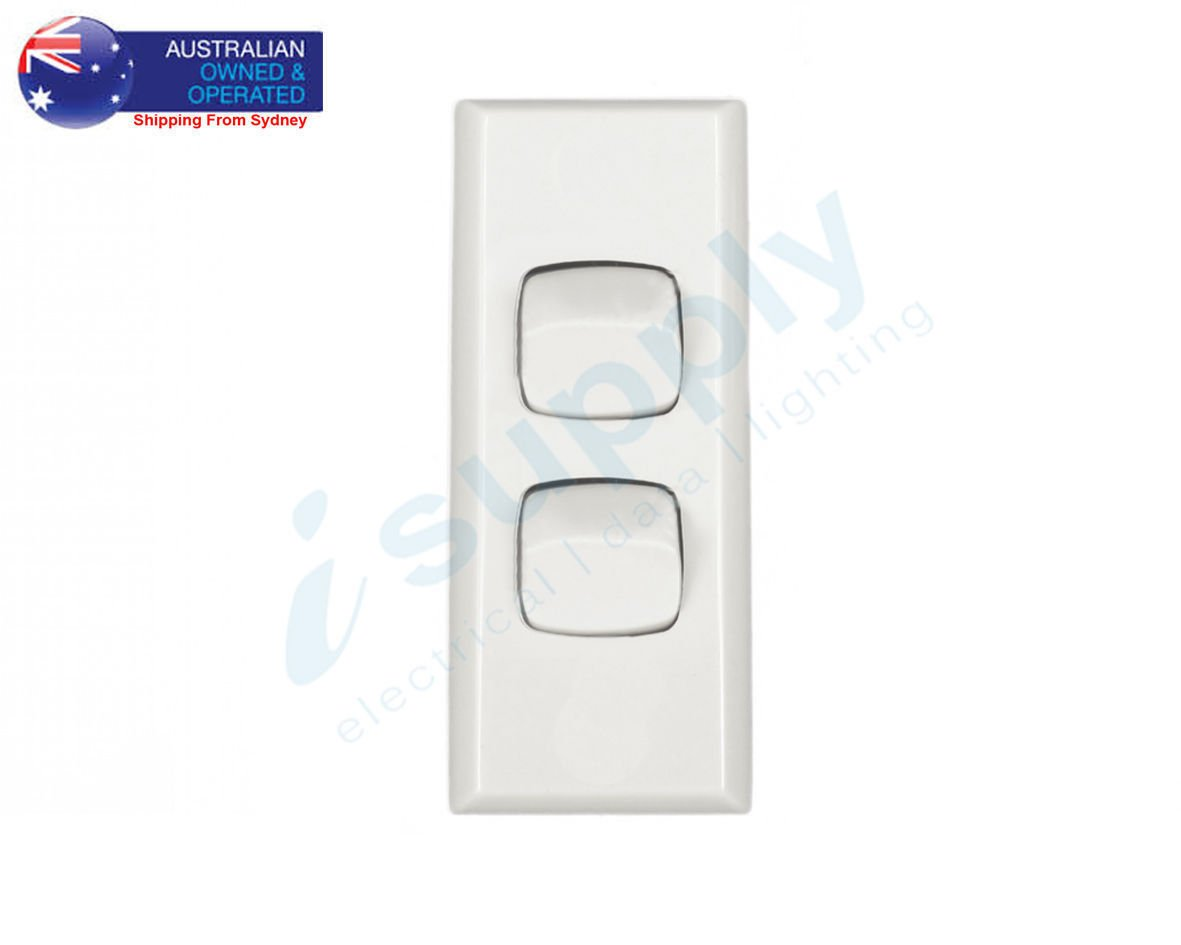 Transco Light Switch 2 Gang Architrave Double Pole 240 Volt 10 Amp Switches Isupply Electrical