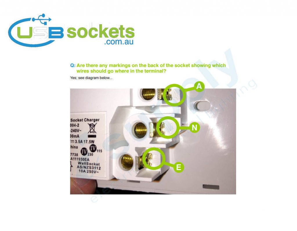 Usb Double Power Point Plug Socket Switch Wall Australian Wiring A Australia 0