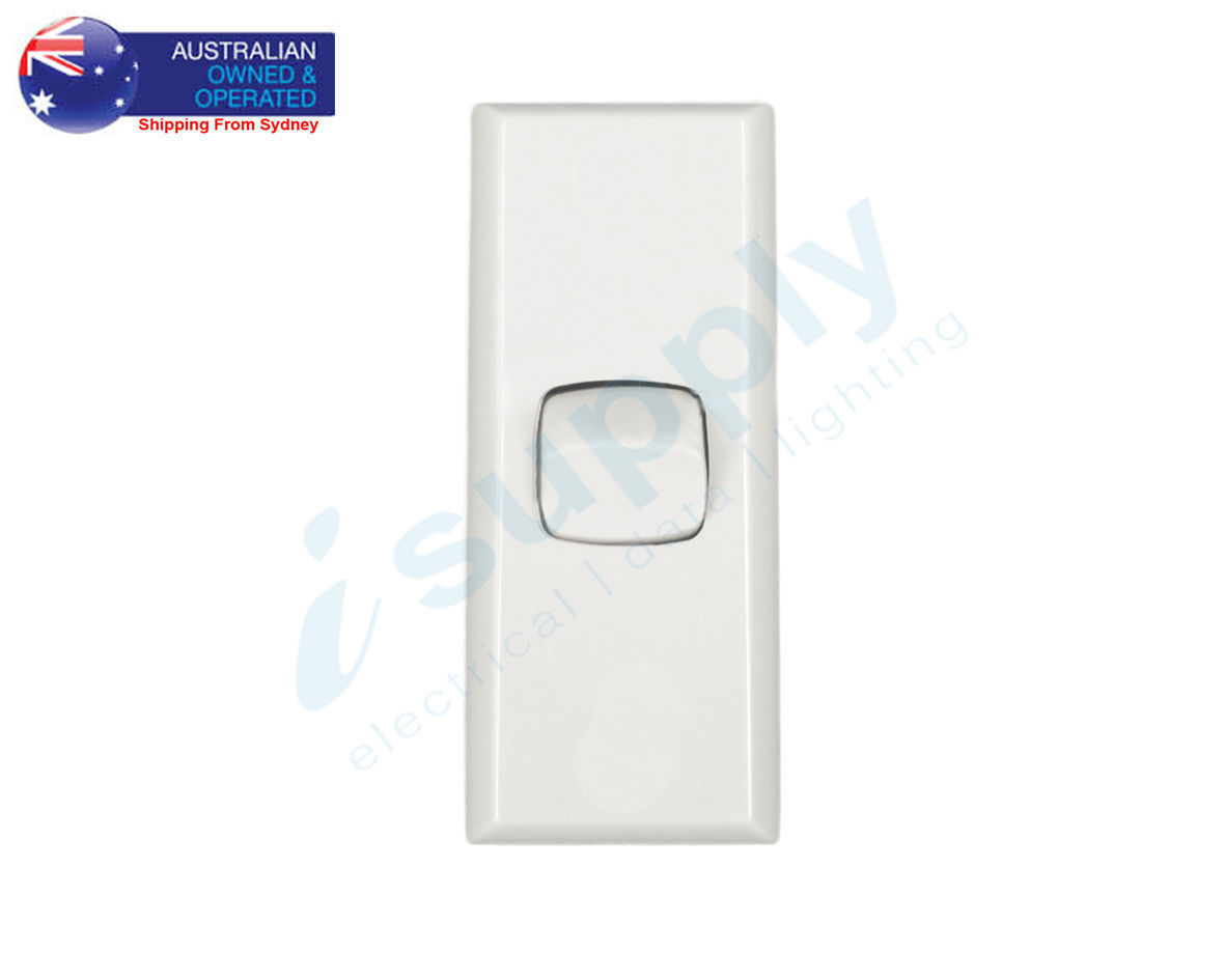 Transco Light Switch 1 Gang Architrave Double Pole 240 Volt 10 Amp Switches Isupply Electrical