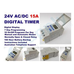 PULSET 7 Day Digital Programmable Time Clock Din rail timer 15a